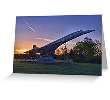 Concorde Sunrise 3 - Brooklands Greeting Card
