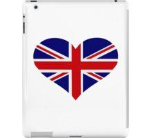 UK flag heart iPad Case/Skin