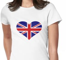 UK flag heart Womens Fitted T-Shirt