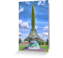 Concorde - Brooklands - HDR Greeting Card
