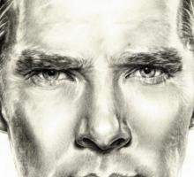 Study of Benedict Cumberbatch Sticker