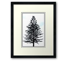 a crow at the crown Framed Print