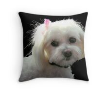 Portrait of Muffy Throw Pillow