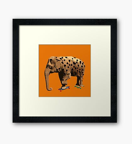 Eletah - The Elephant Who Wanted to be a Cheetah. Framed Print