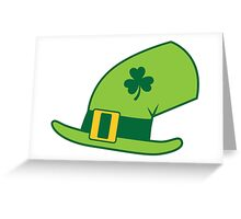 Green Irish Leprechaun hat Greeting Card