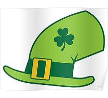 Green Irish Leprechaun hat Poster