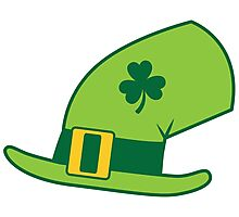 Green Irish Leprechaun hat Photographic Print