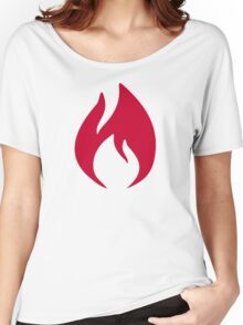 Red fire flame Women's Relaxed Fit T-Shirt