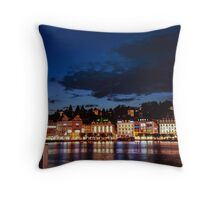 Lucerne by night Throw Pillow