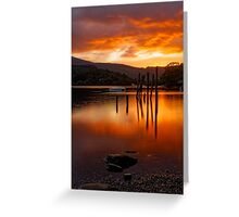 Sunset at Derwent Water Greeting Card