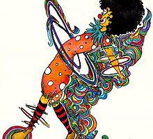 Hula hooping clown by stefaniecox
