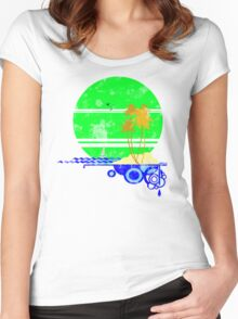 Vintage Beach Women's Fitted Scoop T-Shirt