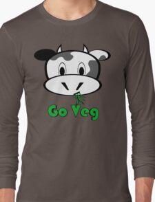 """Cow """"Go Veg"""" Long Sleeve T-Shirt"""