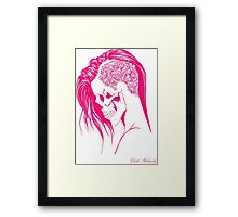 PINK PUNK SKULL GIRL Framed Print