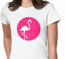 Flamingo moon Womens Fitted T-Shirt