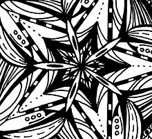 Star Tangles 5 Black Variations  -  See Description Note for Colour Options by Heatherian