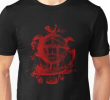 Red Round Blimp Zeppelin Unisex T-Shirt