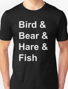 Bird, Bear, Hare and Fish T-Shirt