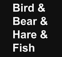 Bird, Bear, Hare and Fish Unisex T-Shirt