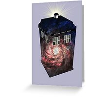 TARDIS Illustrated- Galaxy Greeting Card