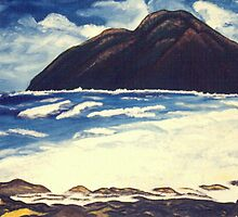 Chinaman's Hat, Kaneohe, Oahu by C J Lewis