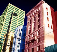 Downtown in lights by littlefrog7