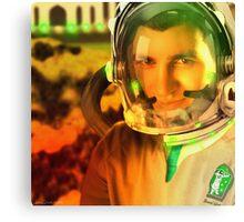 Ahmed Khan, The Pakistani Space Exploring Astronaut Canvas Print