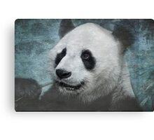 Munching Panda - Textured Canvas Print