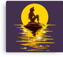 The Minimal Mermaid Canvas Print