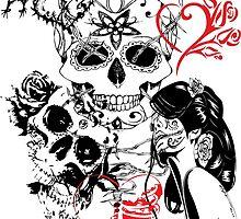 SKULL LOVE AFFAIR by VividAudacity