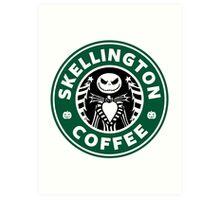 Skellington Coffee Art Print