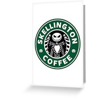 Skellington Coffee Greeting Card