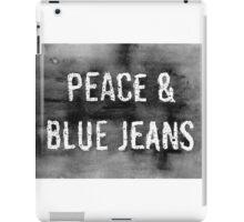 PEACE & BLUE JEANS  iPad Case/Skin