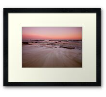 Bar Beach at Dusk Framed Print