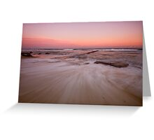 Bar Beach at Dusk Greeting Card