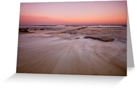 Bar Beach at Dusk by Mark Snelson