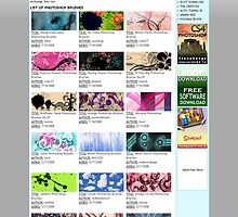 One of my Design Resources Website: Brushesdownload.com by kiguana