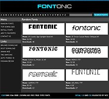 Fontonic.com - Download Free True Type Fonts by kiguana