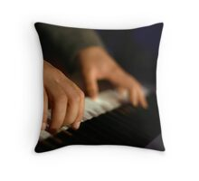 Hitting the Ivory Throw Pillow