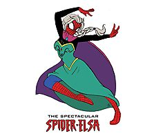 The Spectacular Spider-Elsa Photographic Print