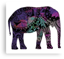 Purple Elephant Canvas Print