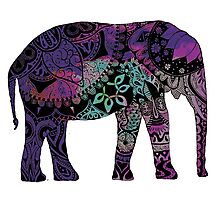 Purple Elephant Photographic Print
