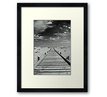 Mono Boardwalk Framed Print