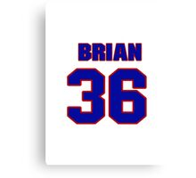 National Hockey player Brian Loney jersey 36 Canvas Print