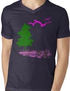 Calm in the Forest Mens V-Neck T-Shirt