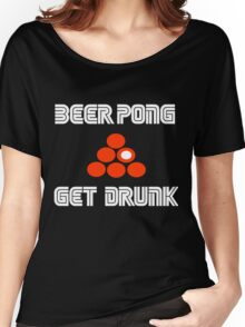 beer pong  Women's Relaxed Fit T-Shirt