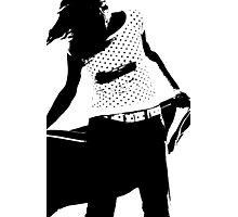 Justa in Black & White Photographic Print