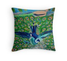 Love Time: The Peacocks Throw Pillow