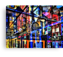Dimensions - The view after visiting all the pubs! HIC! Canvas Print