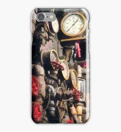 Trains - Inside Cab of Steam Locomotive iPhone Case/Skin